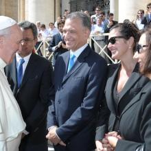 Delegación dominicana en Audiencia General con el Papa Francisco