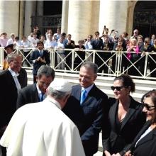 Delegación de la República Dominicana en Audiencia General con Su Santidad Francisco I