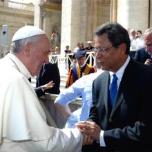 Félix Jiménez y el Papa Francisco I