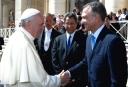 Embajador Victor Grimaldi y el Papa Francisco I