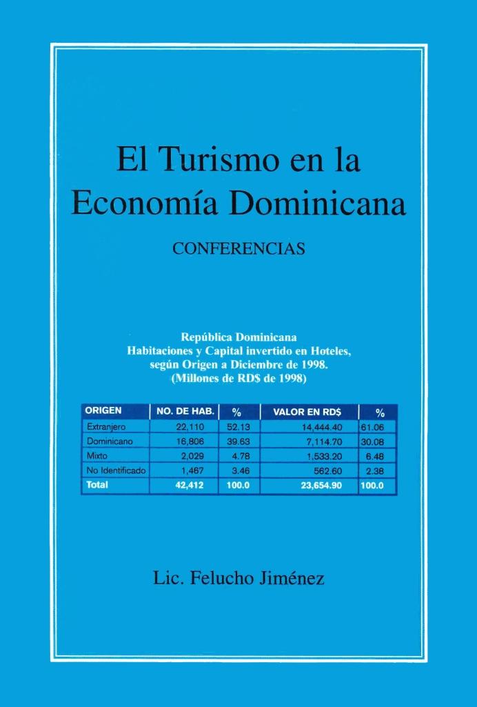 Felucho Jiménez - El turismo en la RD - Conferencias portada