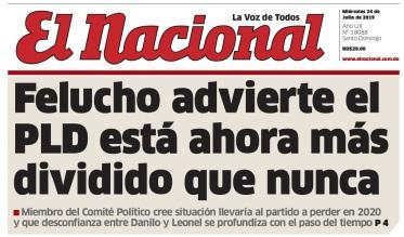Portada el Nacional Felucho Jimenez